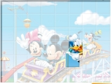 flash игра Mickey in Rollercoaster - Set the blocks