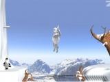 Flash игра для девочек Yetisports 10 - Метание сосульки в айсберг