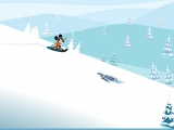 Flash игра для девочек Mickey Snowboard