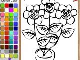 Flash игра для девочек Раскраски: Potted Flowers