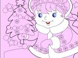 Раскраски: Снегурочка