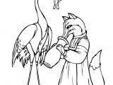 Раскраски: Лиса и журавель