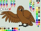 Flash игра для девочек Укрась сову