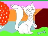 Раскраски: Красивый кот