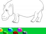 Flash игра для девочек Раскраски: Бегемот