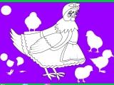 Flash игра для девочек Раскраски: Раскрась Курочку Рябу