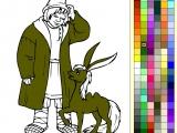 Flash игра для девочек Раскраски: Конек-горбунок