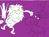 Раскраски: Lion with Burro