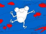 Раскраски: Счастливый лягушонок