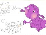 Flash игра для девочек Раскраски: Дом улиток