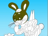 flash игра Раскраски: Зайцы-кролики