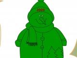 Flash игра для девочек Раскраски: Snowman 2009