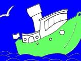 Раскраски: Кораблик