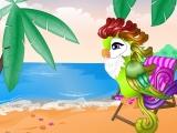 Попугай на пляже
