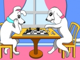 flash игра Пазлы: Веселые шахматисты