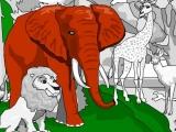 Flash игра для девочек Раскраска зоопарк