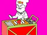 Hotdog man colouring