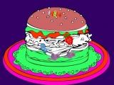 Flash игра для девочек Online coloring Hamburger