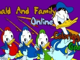 Flash игра для девочек Donald and Family Online Coloring Game