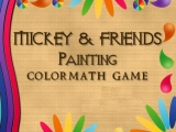 flash игра Mickey and friends Coloring Math Game