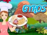Gyros Cooking