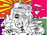 Flash игра для девочек Раскраски: Батальон Смешариков