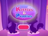 flash игра Kitties & Puppies - Собачки и кошечки