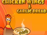 Chicken Wings - Garlic Bread