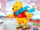 Pooh y amigos patinando en Hielo