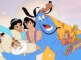 Abrazo personajes Aladdin