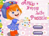 flash игра Amy's Happy Life Puzzle