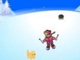 Flash игра для девочек Лыжный чемпион