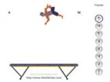 Flash игра для девочек Trampoline Trickz 2