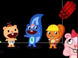flash игра Heppy Tree Friends Throw Dynamite