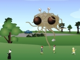 Flash игра для девочек Flying Spaghetti Monster