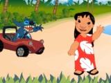 flash игра Лило и Стич Car Race