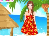 flash игра Симпатичная кукла на Гавайях