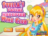 flash игра Stella's Facial Makeover Winx Club