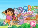 Flash игра для девочек Dora the explorer Coloring Fun