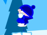 flash игра Snowball Battle Backyard Blitz