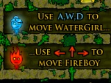flash игра Fireboy and watergirl in Forest temple