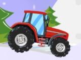 flash игра Christmas Tractor Race