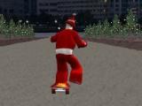 flash игра Skateboarding Santa