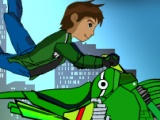 flash игра Ben 10 Bike Trail 2