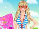 flash игра Barbie at the Beach