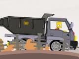 flash игра Bart Factory Truck