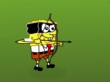 flash игра Spongebob Squarepants Shoot Zombie