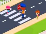flash игра Jenny Crossing Guard